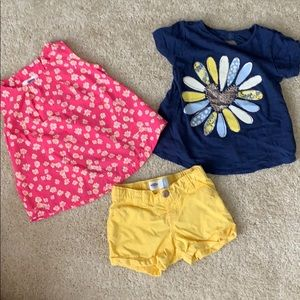 Old Navy shirts and short set (toddler girls)